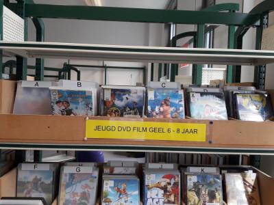 Dvd's voor kinderen staan per leeftijd